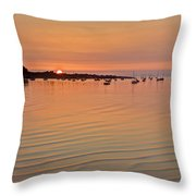 Estruary Harbour Sunset Throw Pillow