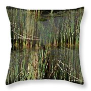 Estuaries Edge Throw Pillow