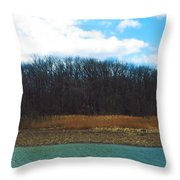 Estuary In Early Spring Throw Pillow