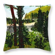 Estuary In Oregon Throw Pillow