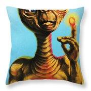 E.t. The Extra Terrestrial  Throw Pillow