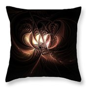 Etched Bloom Throw Pillow