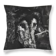 Etched In Time Throw Pillow