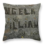 Etched In Wood Throw Pillow