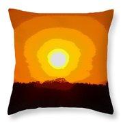 Eternal Sun - Amazing Sunset Photograph - Painting Like Throw Pillow