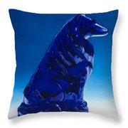 Eternally Blue Throw Pillow