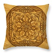 Eternity Mandala Leather Throw Pillow