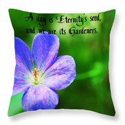 Eternity's Seed Throw Pillow