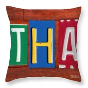 Ethan License Plate Name Sign Fun Kid Room Decor. Throw Pillow