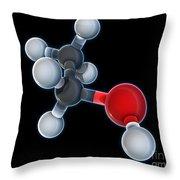 Ethanol Molecular Model Throw Pillow