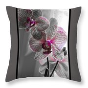 Ethereal Orchid Throw Pillow