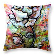 Ethereal Rose Throw Pillow