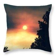 Ethereal Sunset Throw Pillow