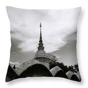 Ethereal Wat Suan Dok Throw Pillow