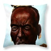 Ethiopian Elder 3 Throw Pillow