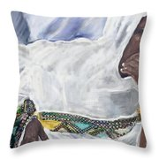 Ethiopian Orthodox Jewish Woman Throw Pillow
