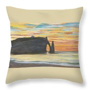 Etretat. Cliff Of Aval Throw Pillow