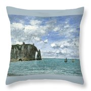 Etretat. The Cliff Of Aval Throw Pillow