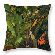 Eugene And Evans' Banana Tree Throw Pillow