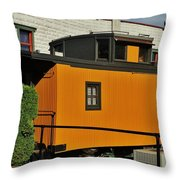 Eugene Caboose Throw Pillow