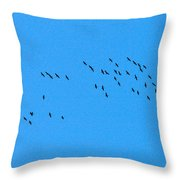 Eurasian Cranes Throw Pillow