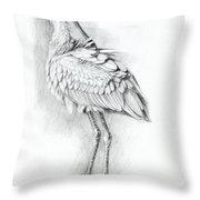 Eurasian Spoonbill - Platalealeucorodia Throw Pillow