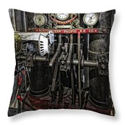 Eureka Ferry Steam Engine Controls - San Francisco Throw Pillow