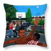 Eureka Park Throwback Throw Pillow by Edward Fuller