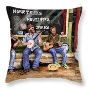 Eureka Springs Novelty Shop String Quartet Throw Pillow