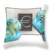 Euro Gloves-1 Throw Pillow