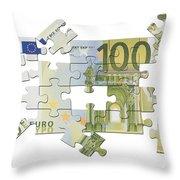 Euro Puzzle Throw Pillow