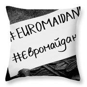 Euromaidan Throw Pillow