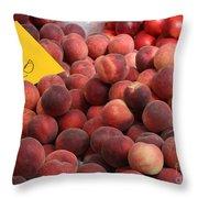 European Markets - Peaches And Nectarines Throw Pillow