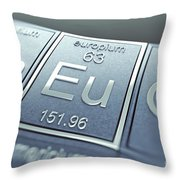 Europium Chemical Element Throw Pillow