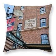 Eutaw Street Throw Pillow by Susan Candelario