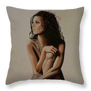 Eva Longoria Painting Throw Pillow