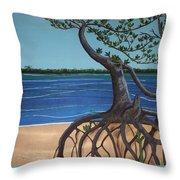 Evans Landing Mangroves Throw Pillow
