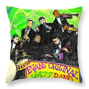 Evans Original Jazz Band Throw Pillow