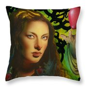 Eve And The Apple Throw Pillow