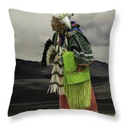 Evelyn In Color Throw Pillow