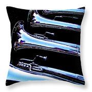 Even At Rest They Line Up Throw Pillow
