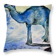 Even Camels Get The Blues Throw Pillow