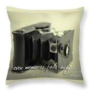 Even Memories Fade Away Throw Pillow
