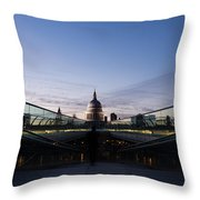 Even The Clouds Aligned With St Paul's Cathedral And The Millennium Bridge - London Throw Pillow
