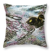Even The Smallest Leave Ripples In Their Wake Throw Pillow