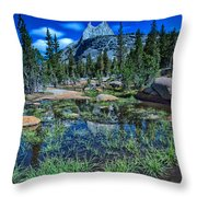 Evening At Cathedral Lakes Throw Pillow