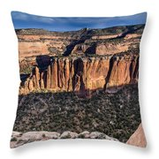 Evening At Colorado National Monument Throw Pillow