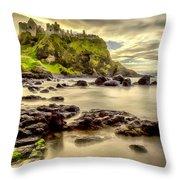 Evening At Dunluce Castle Throw Pillow