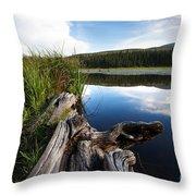Evening At Red Rock Lake Throw Pillow