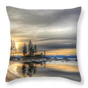 Evening At Sand Harbor Throw Pillow